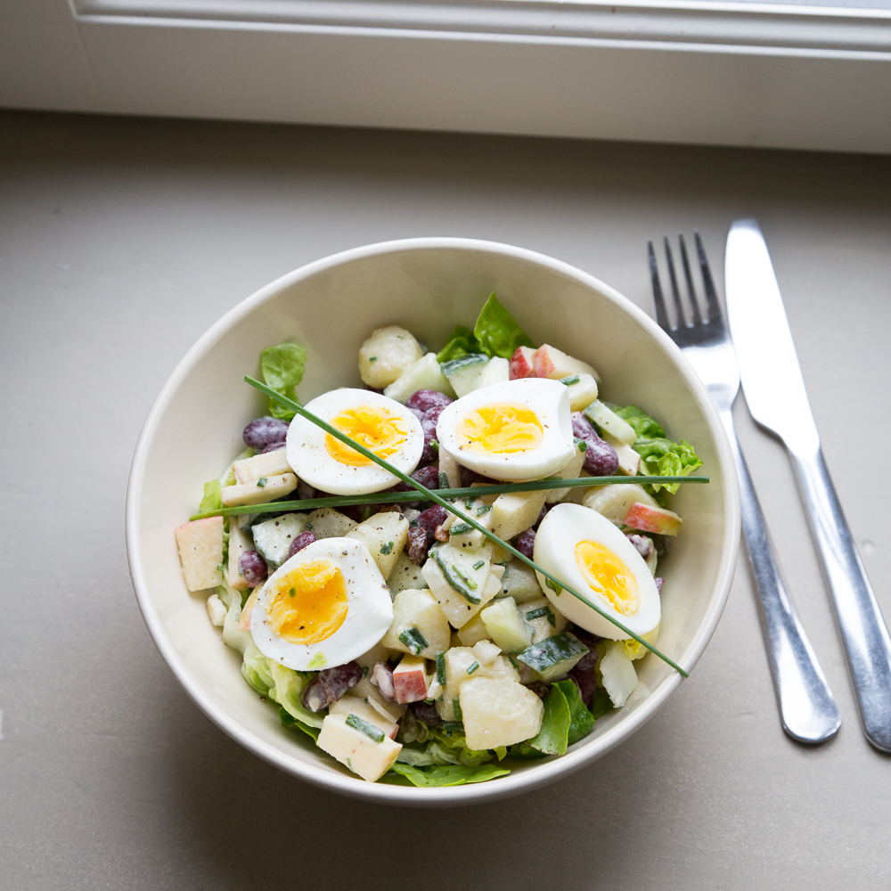 potato salad, mindful cooking