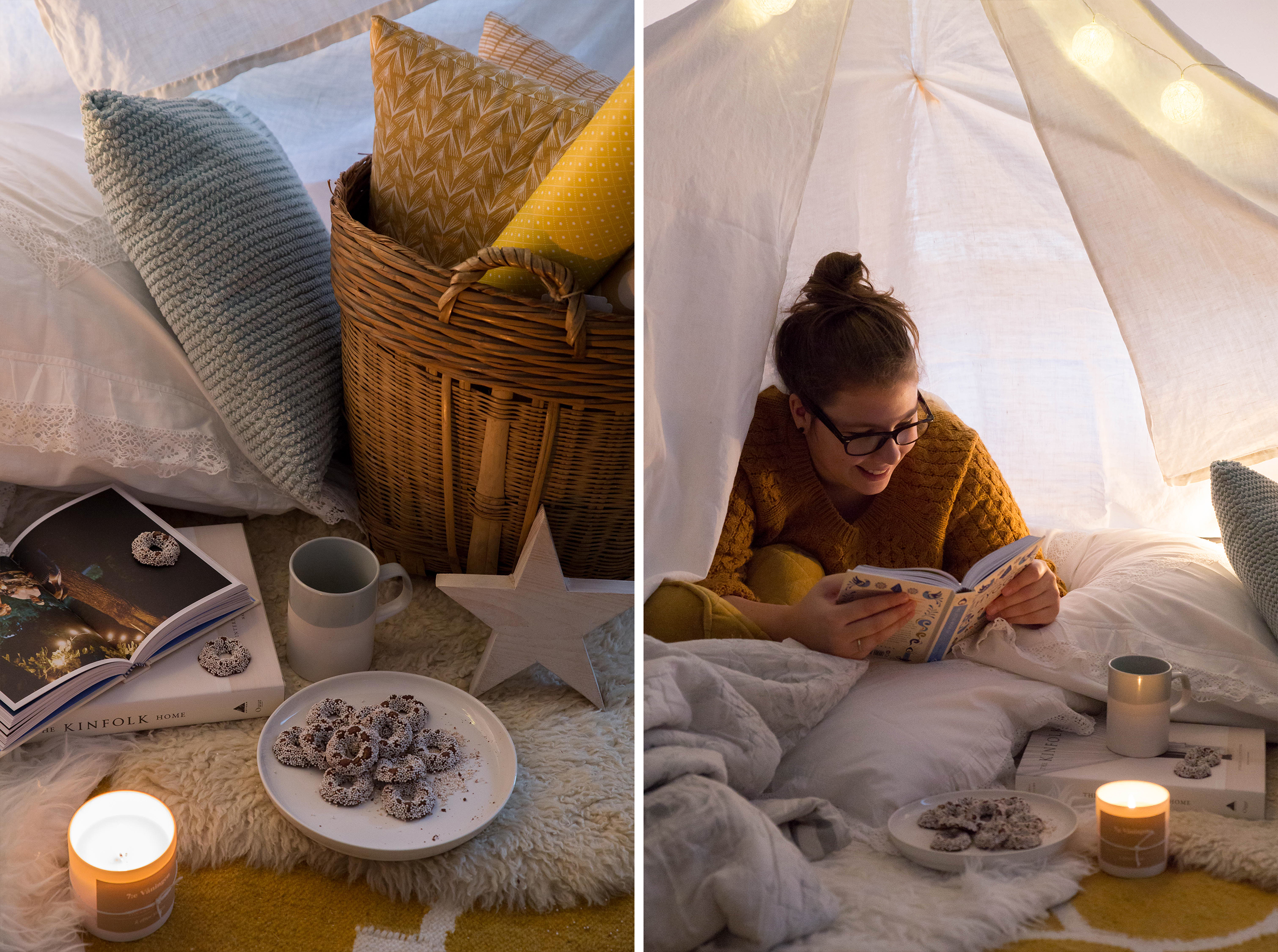 blanket fort grown-ups, mindfulness, slow down, that sunday feeling